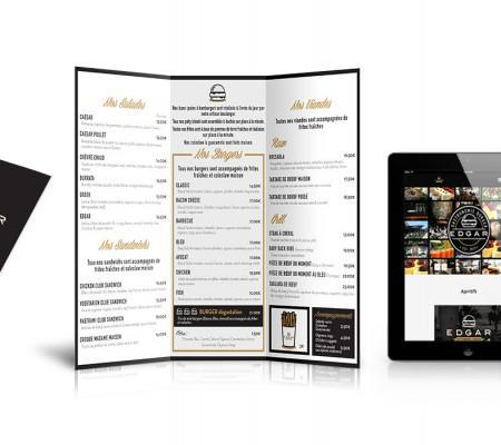Communication du restaurant Edgar Burger Par Mylor Agence de communication Nice
