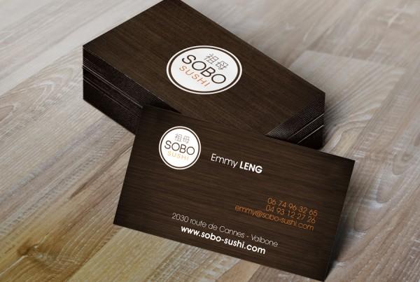 carte de visite Sobo Sushi