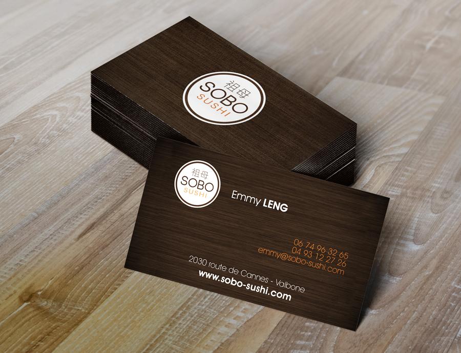 Gut bekannt Cartes de visite Sobo Sushi - mylor LO91