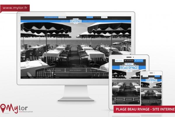 Création du site internet de la plage Beau rivage