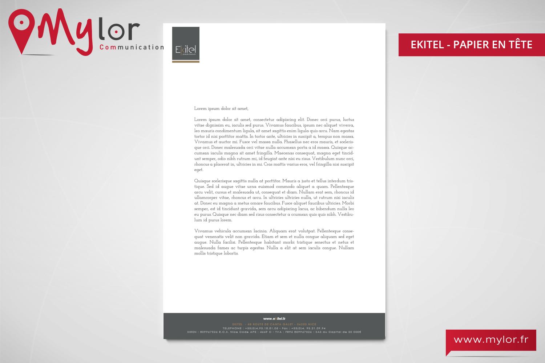 Bien connu Création papier à en-tête Ekitel - mylor ML21